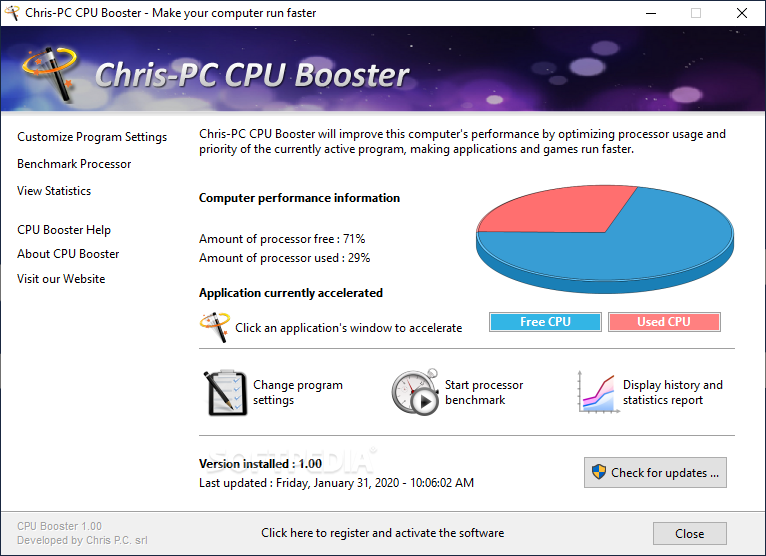 Chris-PC CPU Booster Crack 1.14.14 Latest Version Free Download