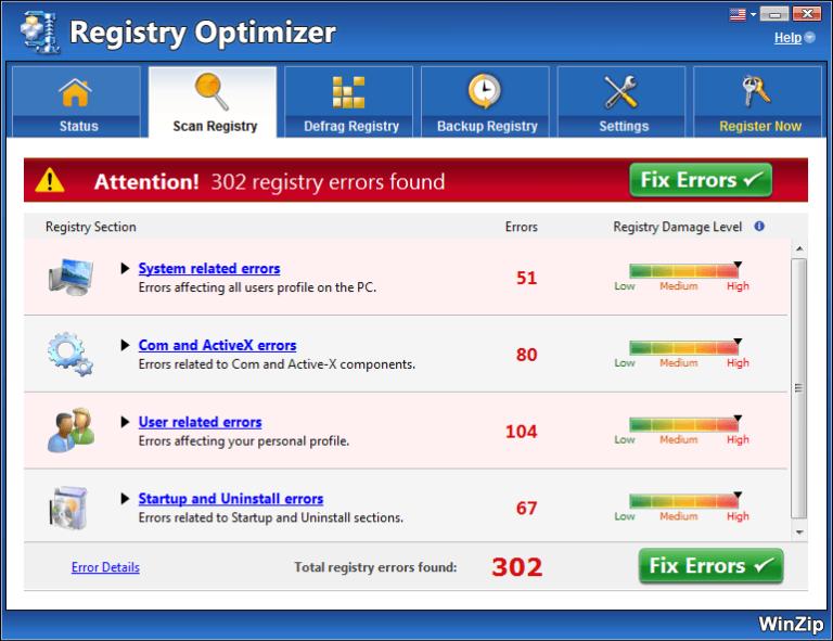 WinZip Registry Optimizer Crack 4.22.2.22 Latest Version