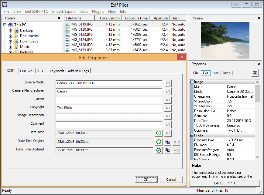 Exif Pilot Serial Key 5.22 Latest Version Free Download