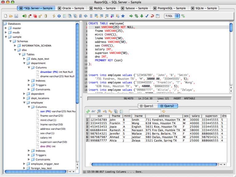 RazorSQL Crack 9.2.6 Latest Version 2021 Free Download