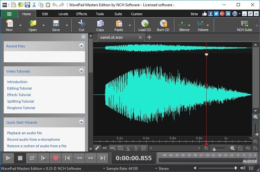 WavePad Sound Editor Masters Serial key 11.27 Latest Version