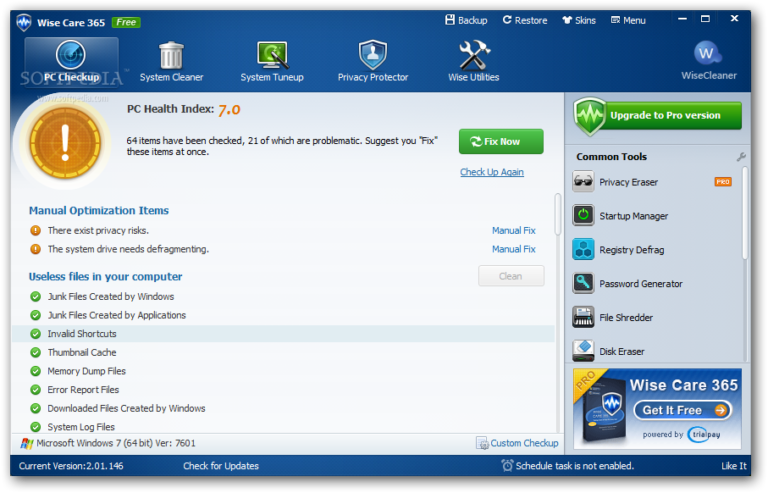 Wise Care 365 Pro Key 5.6.4 Build 561 Latest Version 2021